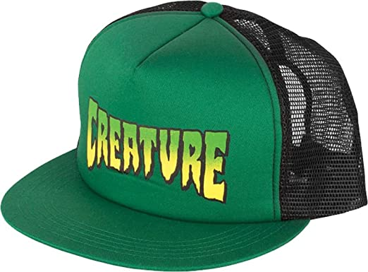 74793dee75d Image Unavailable. Image not available for. Color  Creature Skateboards Logo  Forest   Black Mesh Trucker Hat - Adjustable