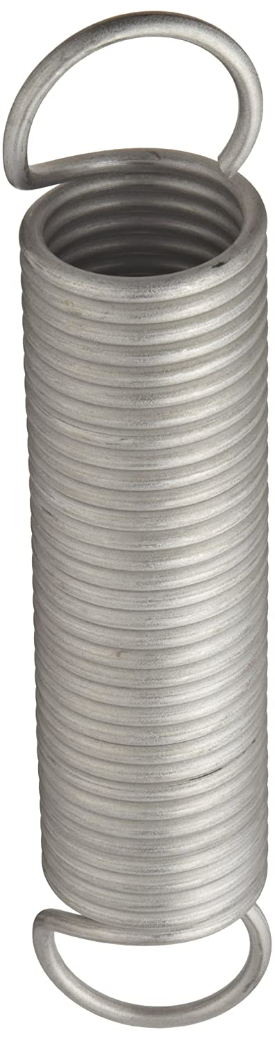 7.62 Extended Length Inch 1.75 OD Extension Spring 302 Stainless Steel 5 Free Length 1.75 OD 0.177 Wire Size 5 Free Length 7.62 Extended Length E17501775000S Pack of 10 0.177 Wire Size 30.49 lbs//in Spring Rate 87.89 lbs Load Capacity