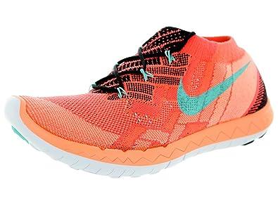 Nike WMNS FREE 3.0 FLYKNIT, Baskets Mode für Damen orange