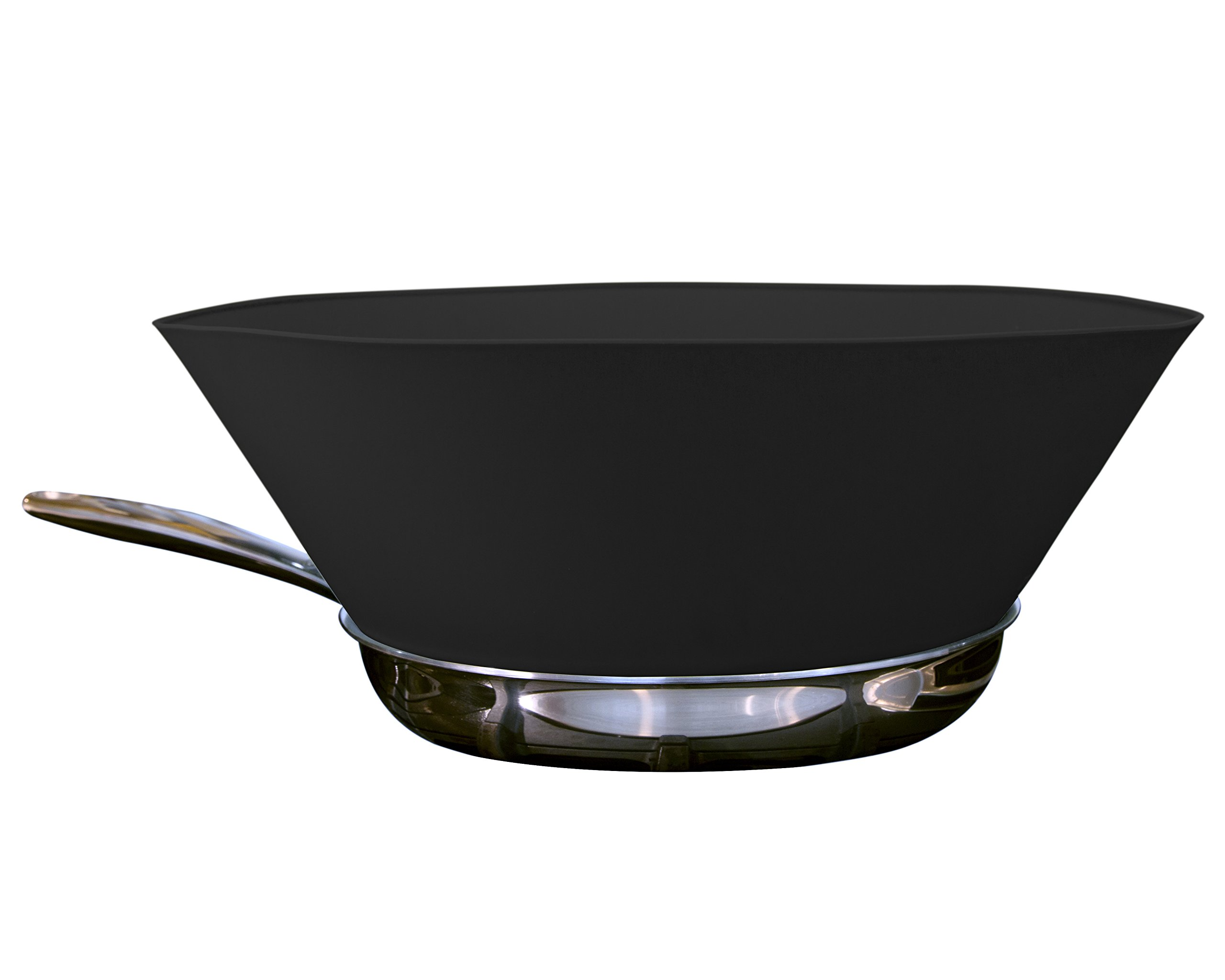 Frywall 12'' (Large Pans) - Ultimate Splatter Protection without Compromises (Black)
