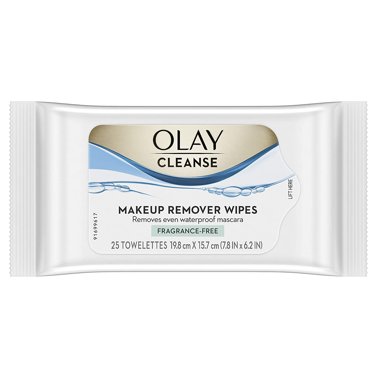 Olay Makeup Remover Wet Cloths, Fragrance Free, 25 Count (Packaging May Vary)