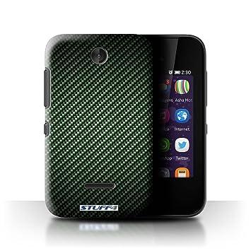 buy online d5f8f e14ce STUFF4 Phone Case / Cover for Nokia Asha 230 / Green Design / Carbon Fibre  Effect/Pattern Collection