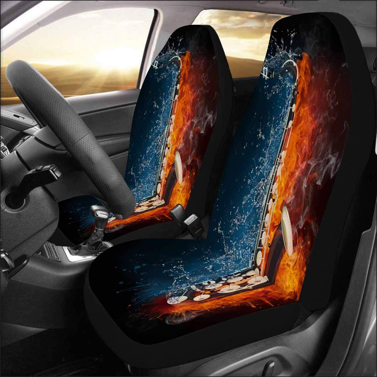 Breathable Bottom Seat Covers for Cars Universal Fit 2 Pieces INTERESTPRINT Car Seat Covers