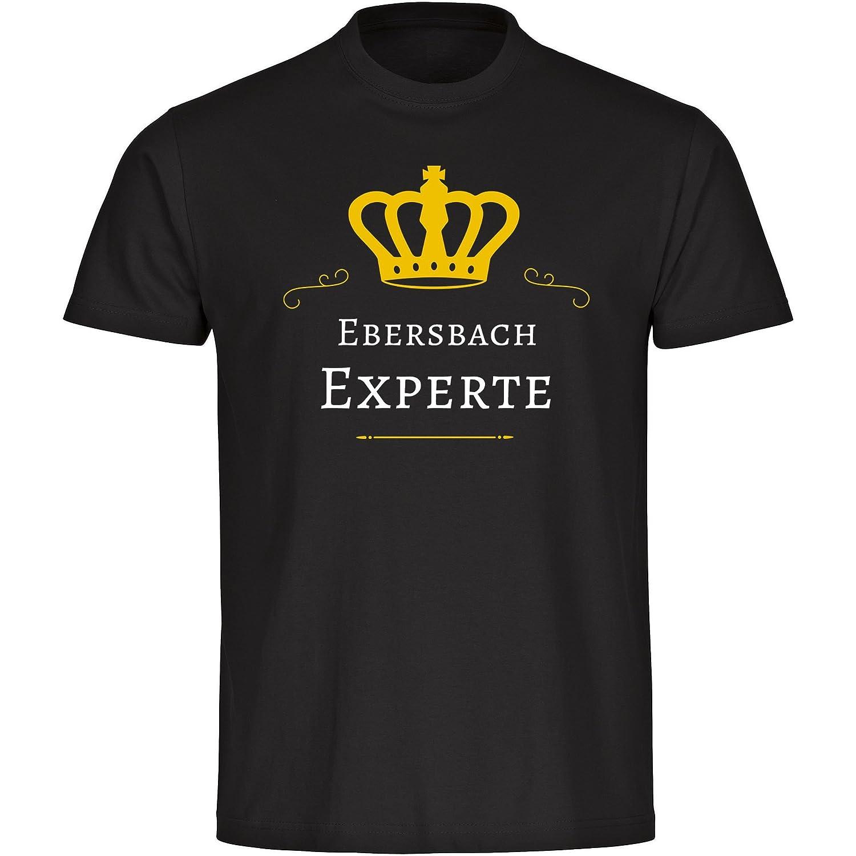 T-Shirt Crew Neck Short Sleeve Eber Expert Black Men Size S to 5XL