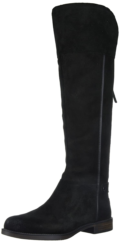 Franco Sarto Women's Christine Knee High Boot B0751BL5GX 8 W US|Black/Black