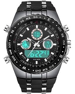9372be983fe7 Reloj analógico digital para hombre Reloj deportivo para hombre Gran cara militar  Reloj eléctrico impermeable digital