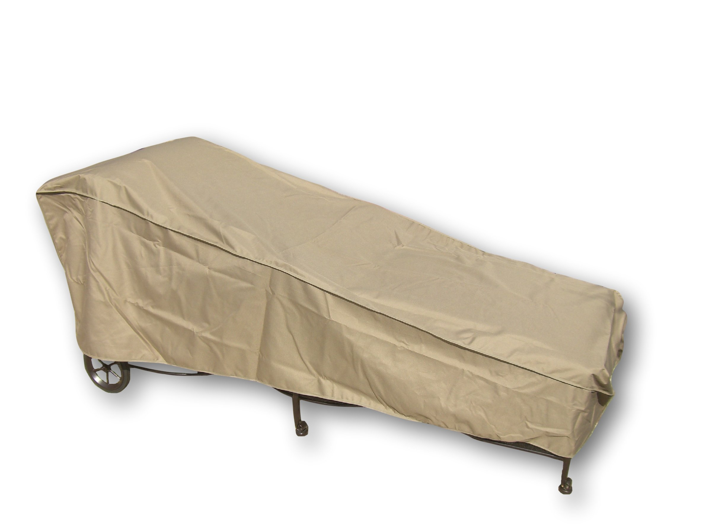 SUNMART Patio Chaise Cover - Protect Your Furniture from UV Mildew Mold Water Damage with Adjustable Velcro Fit - 84''L x 30''W x 29''H in Taupe