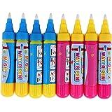 スイスイおえかき ペン すいすいおえかき みずぬりえ お絵描きシート用 水 おえかき ペン カラフルシート用 ペン8本(赤4本+青4本)