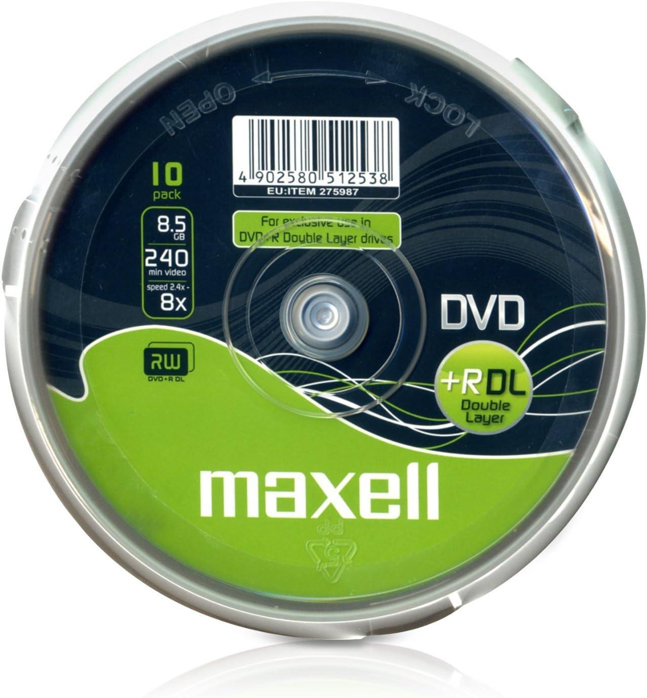 Maxell Dvd R Dl 8 5gb 240min 8x Cakebox Computer Zubehör