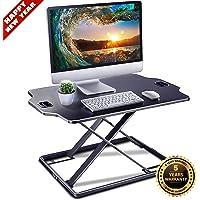 Standing Desk Converter - IMtKotW Height Adjustable Desk - Sit Stand Desk Converter - Laptop Desk Riser - The Best…
