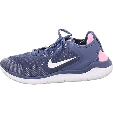 a17ffa0fca7db Nike Damen Mädchen Free Run 2018 (GS) Laufschuhe Mehrfarbig (Diffused  Blue White
