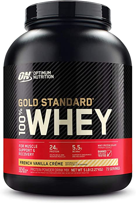 Amazon Com Optimum Nutrition Gold Standard 100 Whey Protein Powder French Vanilla Creme 5 Pound Packaging May Vary Health Personal Care