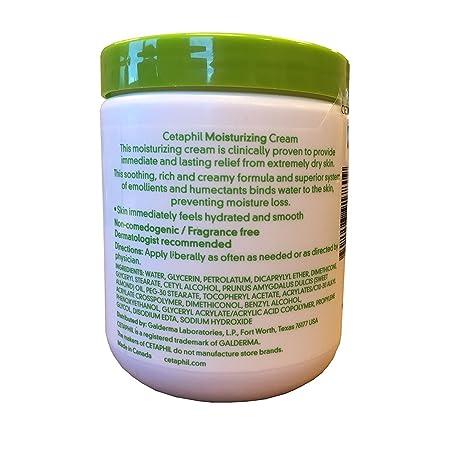 Cetaphil Moisturizing Cream for Dry, Sensitive Skin, Fragrance Free, Non-comedogenic, 20 Oz Each Pack of 2