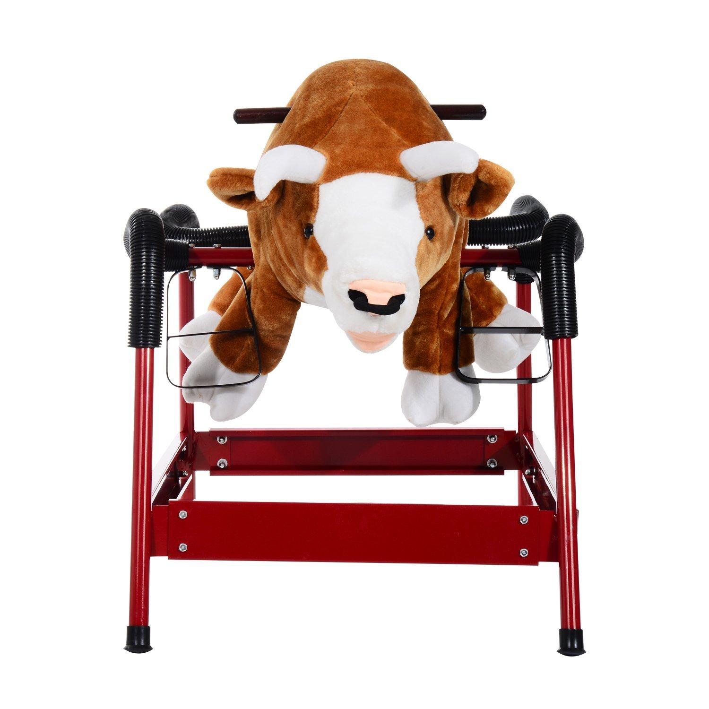 amazon com qaba kids plush spring horse style rodeo bull w