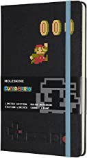 Moleskine Limited Edition Notebook, Super Mario, Mario in Motion/Black, Large, Ruled Hard Cover (5 x 8.25)