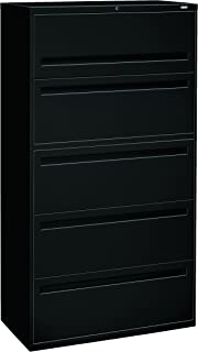 product image for HON 785LP 700 Series 36-Inch 5-Drawer Lateral File withroll-Out and Posting Shelf, Black