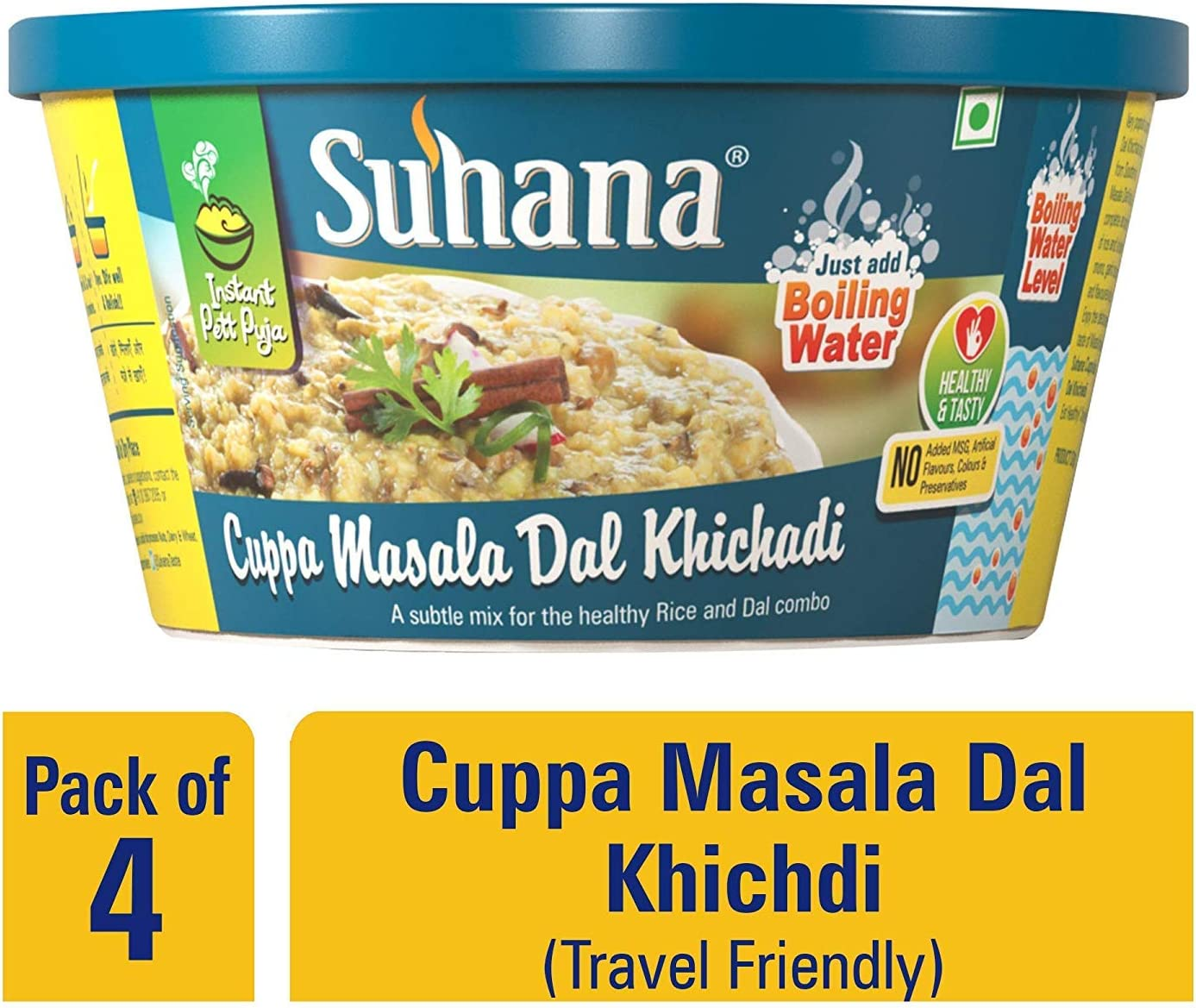 Suhana Cuppa Masala Dal Khichadi Listo para comer Instant ...