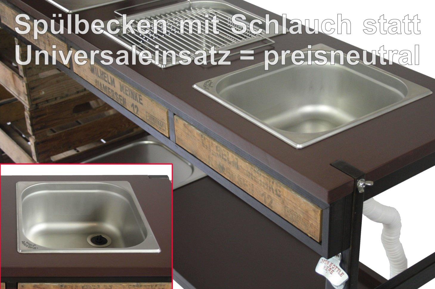 Outdoorküche Mit Spüle Gebraucht : Edelstahl becken outdoorküche spüle cromagan blanko in