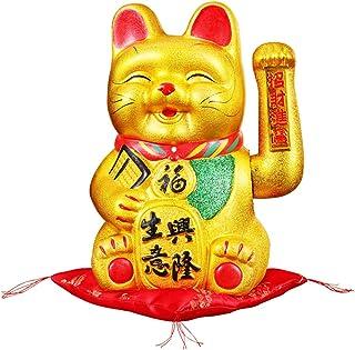 13 'Waving Lucky Fortune Cat Maneki Neko Porcelaine giapponese Lucky Cat # 30CM Fancy Pumpkin