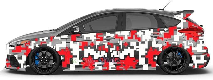 1a Style Sticker Auto Aufkleber Pixel Seitenaufkleber Camouflage Seiten Dekor Flecktarn Set 70 Teiliges Set 2 Farbig Auto