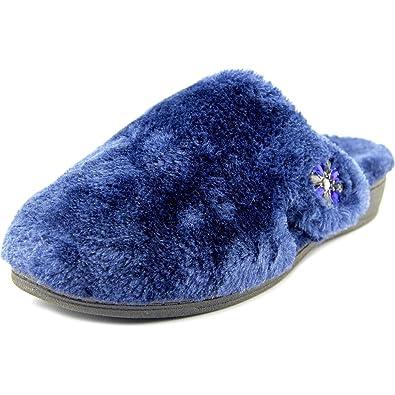 f0b01aa35495 Vionic Women s Gemma Luxe Slippers Navy 9   Med  Amazon.co.uk  Shoes ...