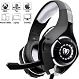 Beexcellent Estéreo Auriculares Gaming PS4 PS3 con Micrófono Luces LED Bass Surround Soft Memory Earmuffs Cancelación de Ruido