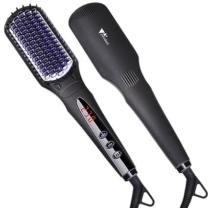 Amzdeal Cepillo alisador de cabello, profesional iónico 120 – 230 ℃, cepillo alisador de