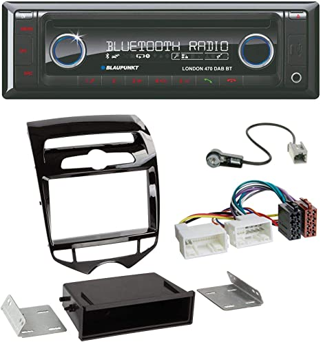 Einbaurahmen DIN Autoradio für Hyundai IX20 ab 2010 automatischer Klima