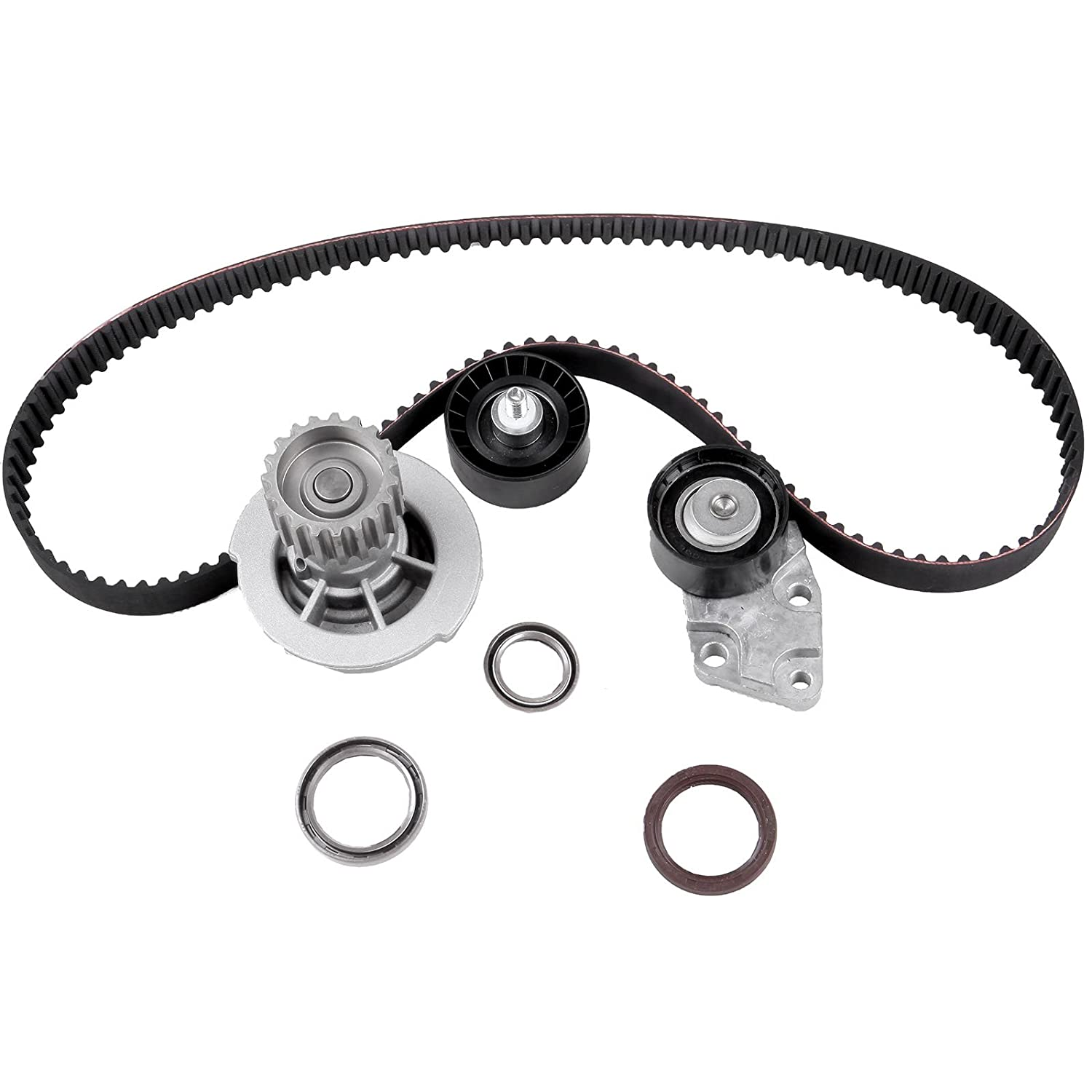 OCPTY Timing Belt Kit Including Timing Belt Water Pump with Gasket tensioner Bearing etc Compatible for 2004 2005 2006 2007 2008 Chevrolet Aveo//2007 2008 Chevrolet Aveo5