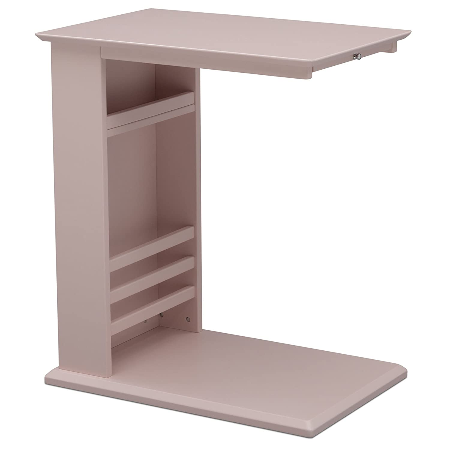 Delta Children Nolan End Table/Side Table for Nursery, Lotus Pink