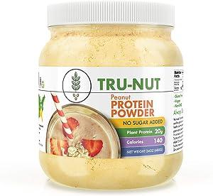 Tru-Nut Peanut Protein Powder (19 Servings, 24 oz Jar) - 20g Plant Protein - Keto, Gluten Free, Vegan, Non-GMO