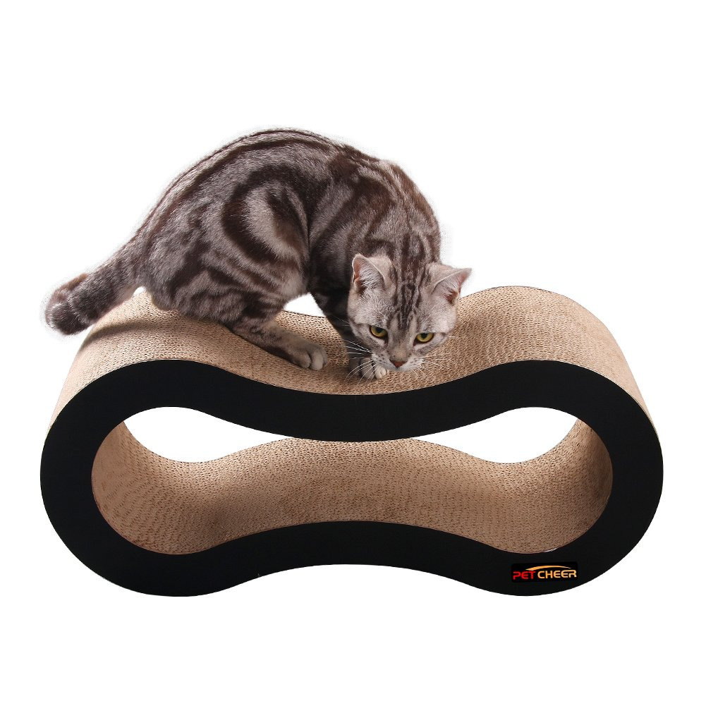 PetCheer Ultimate Cat Scratcher Lounge Bed with Catnip