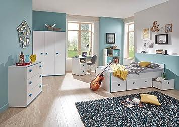 Jugendzimmer komplett weiß  lifestyle4living Jugendzimmer, Komplett-Set, Jungen ...