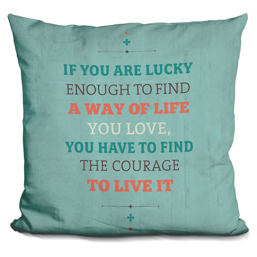 LiLiPi A Way of Life Decorative Accent Throw Pillow