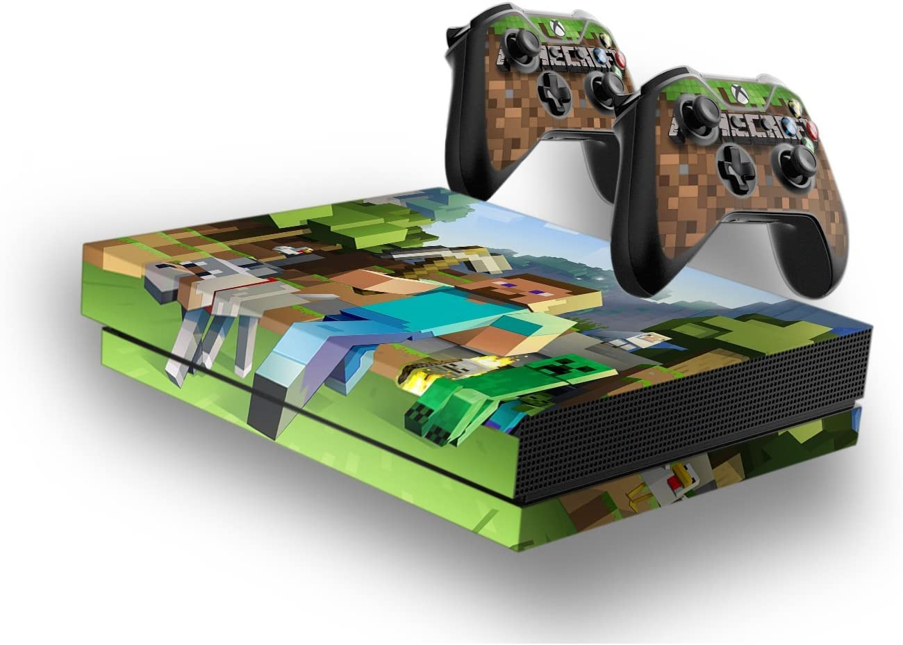 Minecraft -Protective Vinyl Skin Decal Cover for Xbox One X