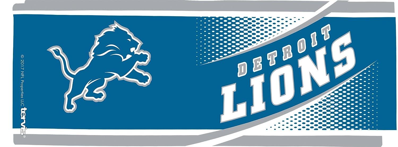 Clear Tervis 1257661 NFL Detroit Lions Legend Tumbler with Wrap and Blue Lid 16oz Mug