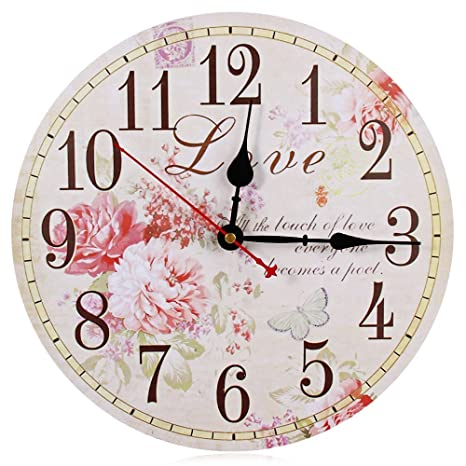 Large Wall Clocks Retro Wooden Silent Vintage Home Decor Big Wall Watches Relojes Decoracion