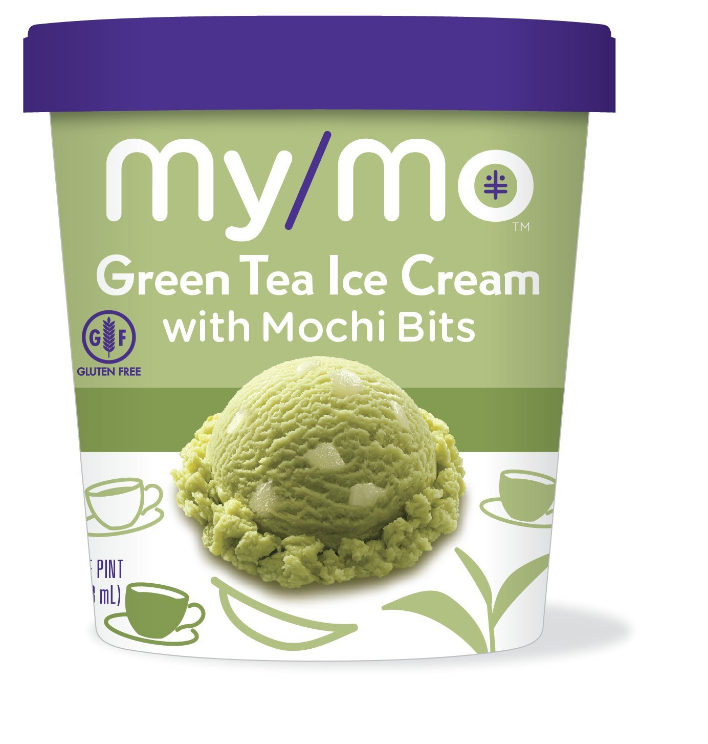 My/Mo Green Tea Ice Cream with Mochi Bits (8 pints) by My/Mo Mochi Ice Cream