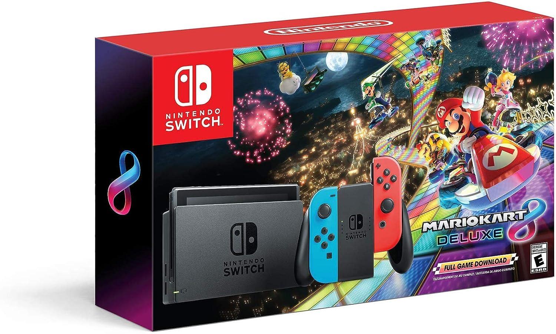 Nintendo Conmutador de consola / Mario Kart 8 Deluxe w: Amazon.es: Videojuegos