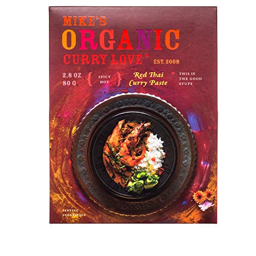 Red Thai Curry Paste ORGANIC | case of 6 x 2.8 oz pouches