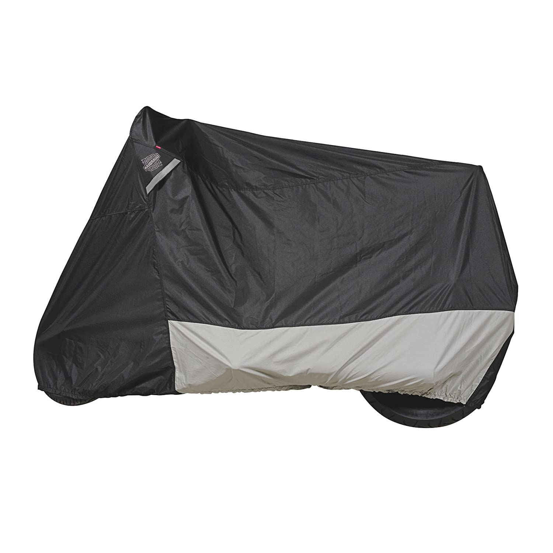 Black Large Dowco Guardian 50003-02 WeatherAll Plus Indoor//Outdoor Waterproof Motorcycle Cover