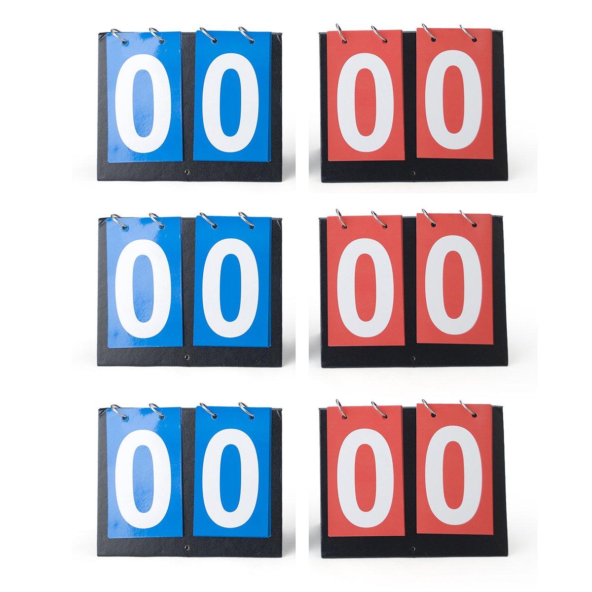 GOGO Set of 6 2-Digital Desktop Sports Scoreboards/Scorekeepers