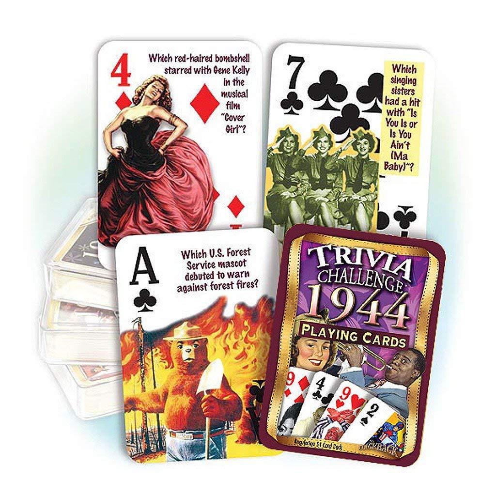 Flickback Media, Inc. 1944 Trivia Playing Cards: 75th Birthday by Flickback Media, Inc.