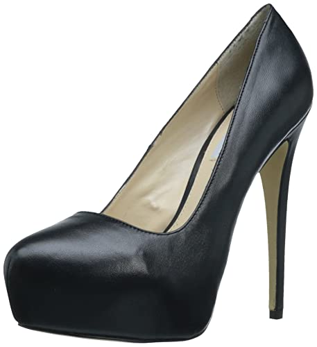 Details about Steve Madden Yasmin Platform Pumps Stiletto Heel Black Leather