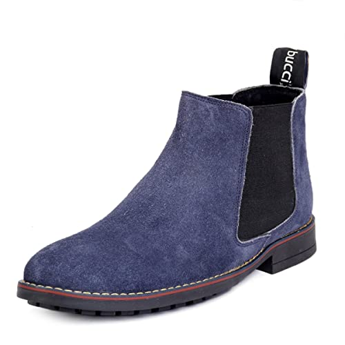8643ee2f29a94f Bacca Bucci Mens 6 inches Chelsea Real Leather Suede Outdoor Slip-on ...