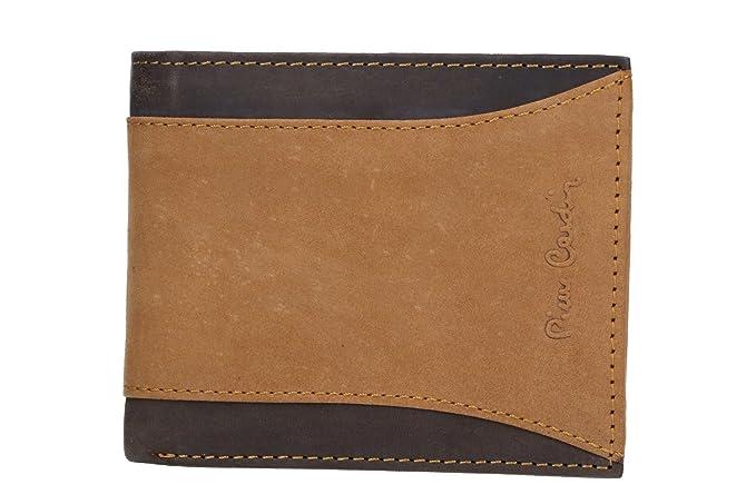 Mini cartera hombre PIERRE CARDIN marrón en cuero con ...