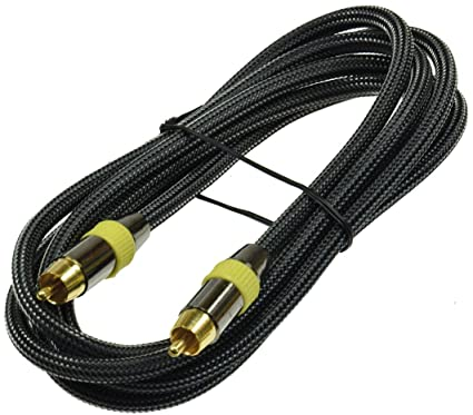 Premium RCA Cable de 2m/200cm para subwoofer y coaxial digital audio