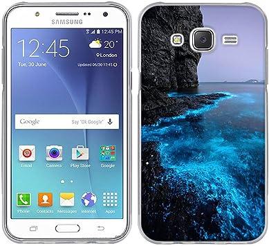 FUBAODA para Samsung Galaxy J5 Funda, [Costa Fluorescente] Prima Híbrido Anti-rasguños Marco Bumper Carcasa Doble Capa TPU de Funda para para Samsung Galaxy J5 J500F: Amazon.es: Electrónica