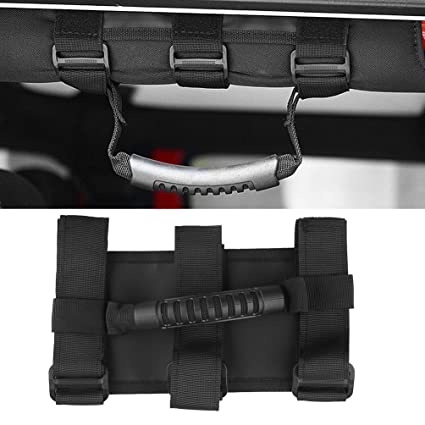 Oryx Auto Roll Bar Grab Handles 2 Pack for Jeep Wrangler CJ YJ TJ LJ JK JL Premium Quality Roll Bar Accessories