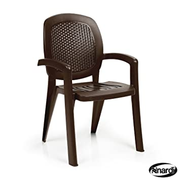 Nardi Creta Lot de 4 chaises en osier Café Fauteuil de ...